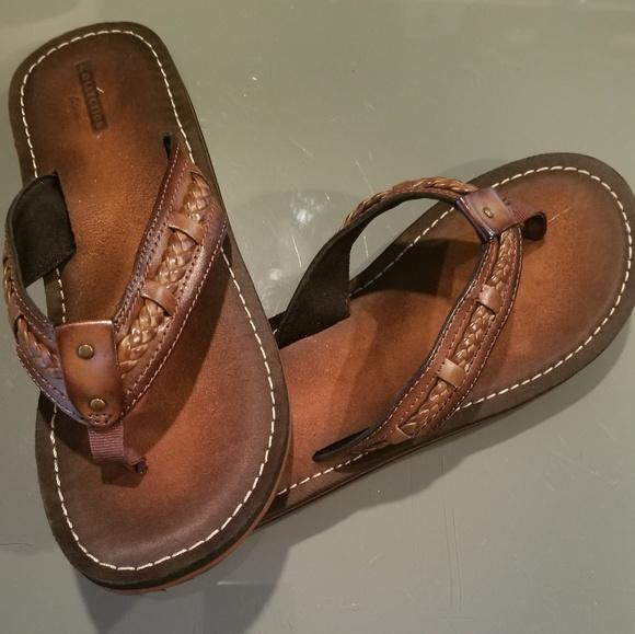 f93721cb06a6 Clarks Shoes - Clark s Fenner Nerice Brown Sandals Flip Flops Sz8